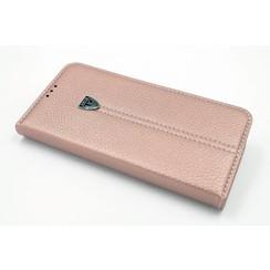 Samsung Galaxy S7 Edge Pasjeshouder Roze Booktype hoesje - Magneetsluiting - Kunststof;TPU