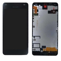 Nokia 550 - N550 LCD display Nokia - Zwart (High Quality AAA)