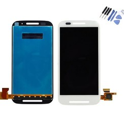 Moto E - E LCD display Motorola - Wit (High Quality AAA)