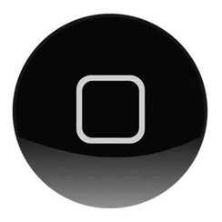 Apple iPad 4 Home Button - Zwart