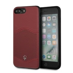 Maserati Silikonhülle für iPhone 8 Plus - Burgundy (3700740423776)
