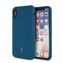 Maserati Silikonhülle für iPhone X - Blau (3700740433232)