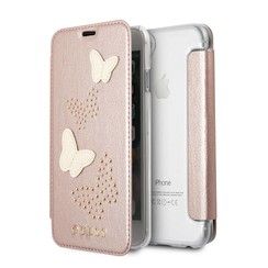 Guess book case for iPhone 7 - rose gold (3700740407448)