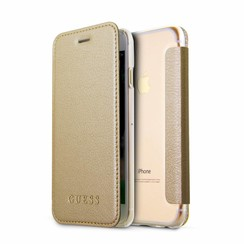 Guess book case for Apple iPhone 8 - Gold (3700740417416)