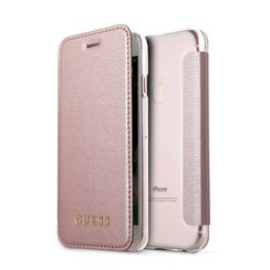 Guess Housse pour Apple iPhone 8 - Rose Or (3700740417492)
