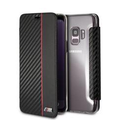 BMW Housse Carbon Stripe pour Galaxy S9 - Rouge (3700740426548)