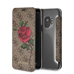 Guess Housse Flower Desire pour Galaxy S9 - Marron (3700740429815)