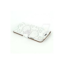 Samsung Galaxy S5 - G900F - FloralPattern Crystal Book case - White