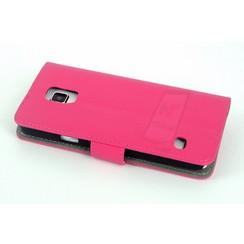 Book case voor Samsung Galaxy S5  - Roze
