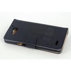Book case voor Samsung Galaxy S5  - D Blauw