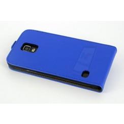 Samsung Galaxy S5 - G900F - Business Un1Q Flip coque - Bleu