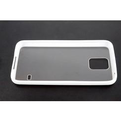 Samsung Galaxy S5 - G900F - Silicon sides Flip coque - blanc
