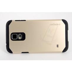 Samsung Galaxy S5 - G900F - Spigen Slim Armor Flip coque - Or