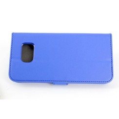Samsung Galaxy S6 Card holder Blue Book type case for Galaxy S6 Magnetic closure
