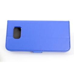 Samsung Galaxy S6 Titulaire de la carte Bleu Book type housse - Fermeture magnétique