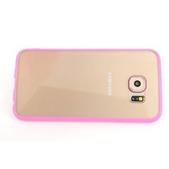 Samsung Galaxy S6 - G9200  - Transparent Back Cover Flip case - Pink