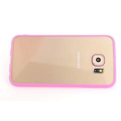 Samsung Galaxy S6 - G9200 - Transparent coque Flip coque - rose
