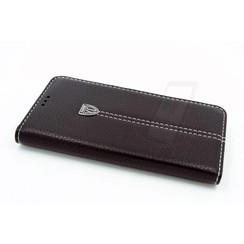 Samsung Galaxy S6 Pasjeshouder Zwart Booktype hoesje - Magneetsluiting - Kunststof;TPU