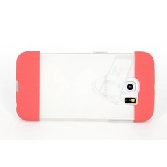 Samsung Galaxy S6 Edge - G925 - TPU Transparent Silicone coque - rouge