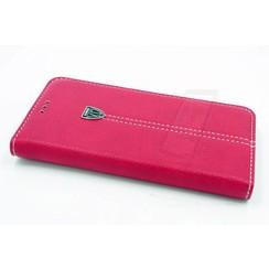 Samsung Galaxy S6 Edge Pasjeshouder Roze Booktype hoesje - Magneetsluiting - Kunststof;TPU