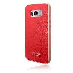 Guess Coque Iridescent Collection pour Samsung Galaxy S8 Plus - Rouge (3700740400357)