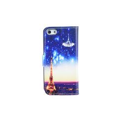 Apple iPhone 5/5s/SE Titulaire de la carte Print Book type housse - Fermeture magnétique