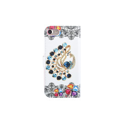Apple iPhone 7; iPhone 8 Titulaire de la carte Print Book type housse - Fermeture magnétique