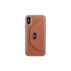 Backcover voor iPhone X-Xs - Bruin