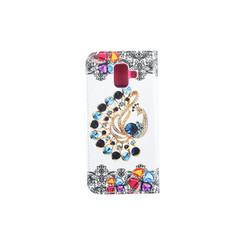 Samsung Galaxy A6 (2018) Pasjeshouder Print Booktype hoesje - Magneetsluiting - Kunststof;TPU