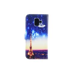 Samsung Galaxy A6 (2018) Titulaire de la carte Print Book type housse - Fermeture magnétique