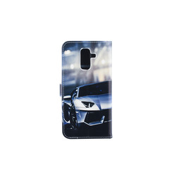 Samsung Galaxy A6+ (2018) Card holder Print Book type case for Galaxy A6+ (2018) Magnetic closure