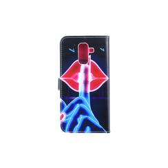 Samsung Galaxy A6+ (2018) Pasjeshouder Print Booktype hoesje - Magneetsluiting - Kunststof;TPU