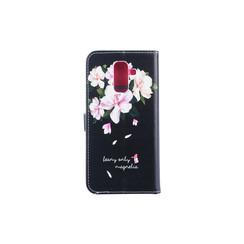 Samsung Galaxy A6+ (2018) Titulaire de la carte Print Book type housse - Fermeture magnétique