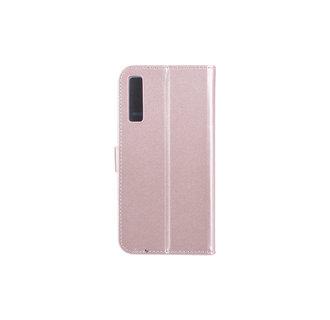 Samsung Galaxy A7 (2018) Pasjeshouder Roze Booktype hoesje - Magneetsluiting - Kunststof;TPU