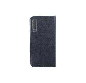 Samsung Galaxy A7 (2018) Pasjeshouder Zwart Booktype hoesje - Magneetsluiting - Kunststof;TPU