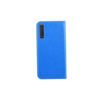 Samsung Galaxy A7 (2018) Pasjeshouder Blauw Booktype hoesje - Magneetsluiting - Kunststof;TPU