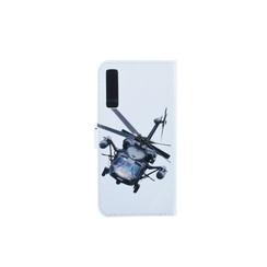 Samsung Galaxy A7 (2018) Titulaire de la carte Print Book type housse - Fermeture magnétique