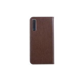 Samsung Galaxy A7 (2018) Pasjeshouder Bruin Booktype hoesje - Magneetsluiting - Kunststof;TPU