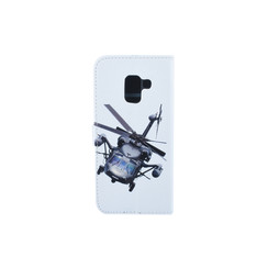 Samsung Galaxy A8 (2018) Pasjeshouder Print Booktype hoesje - Magneetsluiting - Kunststof;TPU