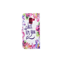 Samsung Galaxy A8 (2018) Card holder Print Book type case for Galaxy A8 (2018) Magnetic closure