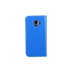 Samsung Galaxy J2 (2018) Pasjeshouder Blauw Booktype hoesje - Magneetsluiting - Kunststof;TPU