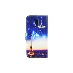 Samsung Galaxy J3 (2017) Titulaire de la carte Print Book type housse - Fermeture magnétique