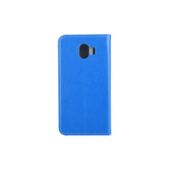 Samsung Galaxy J4 (2018) Card holder Blue Book type case for Galaxy J4 (2018) Magnetic closure