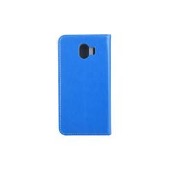 Samsung Galaxy J4 (2018) Pasjeshouder Blauw Booktype hoesje - Magneetsluiting - Kunststof;TPU