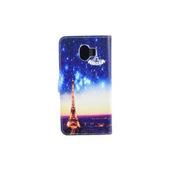 Samsung Galaxy J4 (2018) Pasjeshouder Print Booktype hoesje - Magneetsluiting - Kunststof;TPU