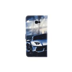 Samsung Galaxy J4+ (2018) Pasjeshouder Print Booktype hoesje - Magneetsluiting - Kunststof;TPU