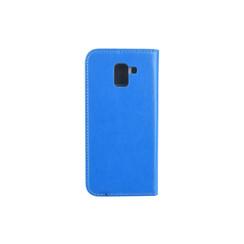 Samsung Galaxy J6 (2017) Pasjeshouder Blauw Booktype hoesje - Magneetsluiting - Kunststof;TPU