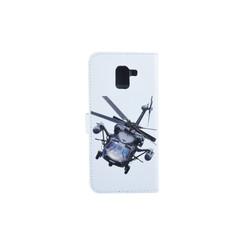 Samsung Galaxy J6 (2017) Titulaire de la carte Print Book type housse - Fermeture magnétique