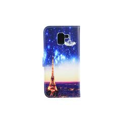 Samsung Galaxy J6 (2017) Pasjeshouder Print Booktype hoesje - Magneetsluiting - Kunststof;TPU