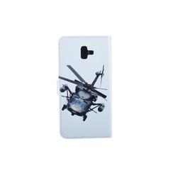 Samsung Galaxy J6+ (2018) Titulaire de la carte Print Book type housse - Fermeture magnétique